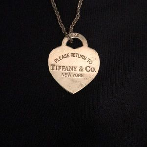 Tiffany and Co heart charm necklace
